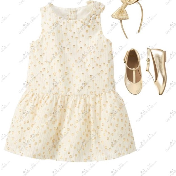2a3513e0ee Gymboree Gold Shimmer Polka Dot Dress. NWT. Gymboree.  45  555. Size. 3T ( Girl)